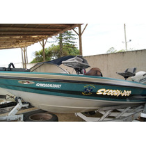 Lancha Bass Boat 17 Pes Com Motor Johnson 90 Hp Ano 1999