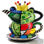 Romero Britto Bule Conjunto De Cha Frog Principe Encantado