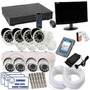 Kit Cftv Dvr 8 Cameras Infra + Hd 1tb + Monitor 200 Mts