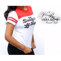 Camiseta Alerquina Baby Look Malha Fria