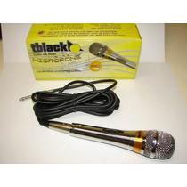 Microfone Profissional - Ideal Para Videokê Todo Cromado
