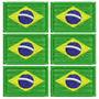 Kit C/6 Pçs Micro Bandeira Brasil Bordada Termocolante Mbp91
