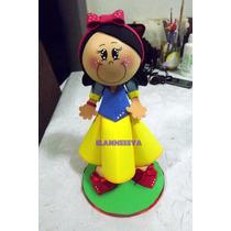 Boneca Princesa Branca De Neve 3d Eva