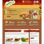Site Em Virtuemart Joomla Para Lanchonete Food - Mod J424