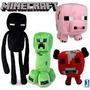 Lote Com 3 Bonecos De Pelúcia Minecraft Varios Personagens