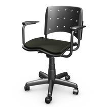 Cadeira Secretária Com Braço Ergoplax Preta
