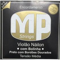 Paganini Jogo De Corda Violão Náilon C/ Bolinha + 4ª D Extra