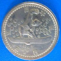Japão-moeda 500 Yens Olimpiada Nagano -1998-skeite