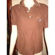 Camisa Tipo Polo C/ Bordado Da Play Boy Made In Usa Tam P