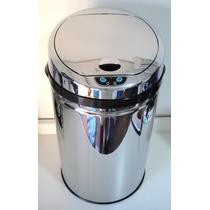 Lixeira Automática 30 Lts Aço Inox Com Sensor De Abertura Nf