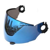 Viseira Zarref Robocop Antigo Espelhada Azul Iridium