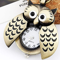 Relógio De Coruja, Coruja, Colar De Coruja Vintage Retrô