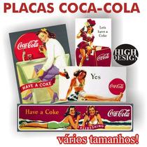 Placas Decorativas Vintage Retrô Coca-cola Pin-ups Antigas