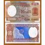 Índia 2 Rupias 1976 P. 79l Fe Cédula Bonita