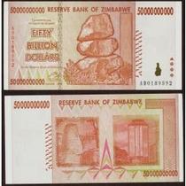 Zimbábue 50 Bilhões Dollars 2008 P. 87 Fe Cédula Belíssima