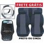 Kit Cinza Tapetes Capas De Banco E Volante Frete Grátis