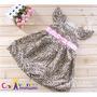 Vestido De Festa Infantil Onçinha - Importado - Com Tiara