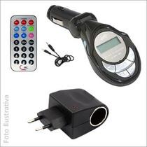 Transmissor Fm Mp3 Pendrive Cartãosd + Adaptador Residencial