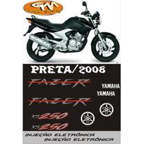 Kit Adesivo P/ Moto Fazer Ys 250 - Opção Frete Grátis