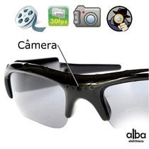 Óculos De Sol Espião Com Alta Resolução - Filma E Fotografa