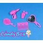 Kit C/ Acessórios De Beleza P/ Barbie * Pente - Espelho !
