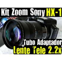 Kit Turbo Zoom P/ Sony Hx1 Lente Tele 2.2x + Tubo Adaptador