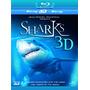 Blu-ray 3d Sharks 3d [ Jean Michel Cousteau ] Imperdível !!