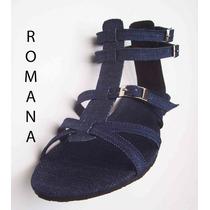 Sandalia Em Jeans 11 Cm De Altura Do 33 Ao 43 =