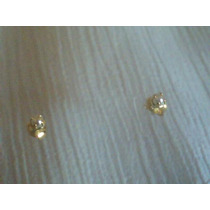 Brinco Perola Solitária 2mm Infantil Ou 2° Furo C/ouro 18k