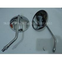 Retrovisor Suzuki Intruder125 Aço Inox Cromado Lente Convexa