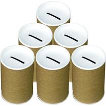 50 Cofrinhos De Papelão 6x10 - Tampa Branca
