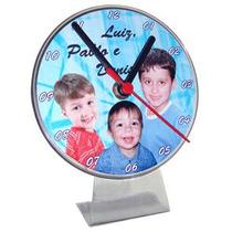 30 Relógios Acílico Tipo Cd Personalizados Tema Festa Logo