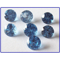 Frete Grátis! Topázio Azul Swiss - 3.5mm - 4 Pedras.