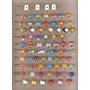 30 Unidades Imãs Imã Para Mural De Fotos Botões Infantis