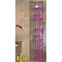 Adesivo D238 Para Box De Banheiro Bambuzal Bambu Decorativo