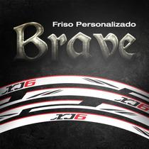 Friso Personalizado Brave Para Qualquer Moto