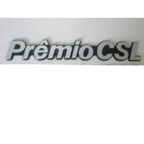 Emblema Fiat Premio Csl Cinza Com Fundo Preto