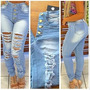 Calça Jeans Feminina Destroyed Moda Inverno - F22