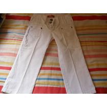 Calça Jeans Branca Capri Com Strech