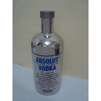 Case / Cooler Absolut Vodka Em Aço Inox !! Incrivel