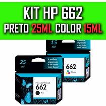 Kit 2 Cartuchos Hp 662 P/ 1516, 2515, 2516, 2546, 3515, 3516