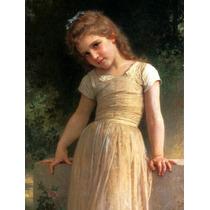 Criança Menina Vestido Amarelo Reprodução Bouguereau Na Tela