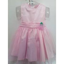 Vestido De Festa Infantil Princesa Luxo Rosa - Frete Gratis