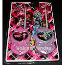 Walk Talk Monster High Até 100 Metros Walkie Talkie + Brinde