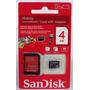 Cartão Micro Sd Sandisk 4gb + Adaptador Sd Novo Lacrado