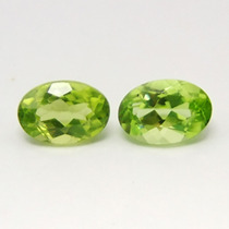1.26ct! Lindo Par De Peridotos Ovais Natural!