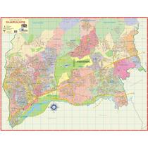 Mapa Gigante Da Cidade De Guarulhos Tamanho 1,20 X 0,90m