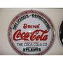 Placa Coca Cola Decoração Aço Concava 40cm Coca