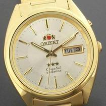Relogio Orient Dourado Crystal 21 Automatico Novo Original !