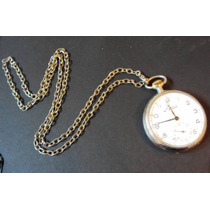 Relógio De Bolso Antigo Minerva - Mostrador De Porcelana